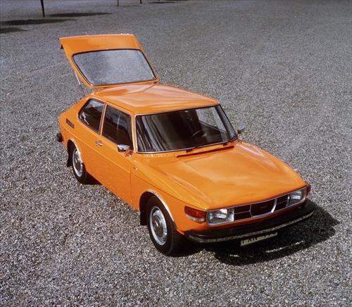オレンジ色は当時のエコカラー