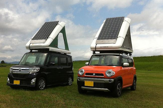 ソーラーパネルの進歩は目覚ましい。軽自動車サイズでも、晴天ならかなりの発電量が見込める