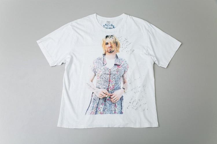 ナンバーナイン9周年記念時のヒステリック・グラマーとのコラボTシャツ。コートニー・ラブの手書きのメッセージ入り