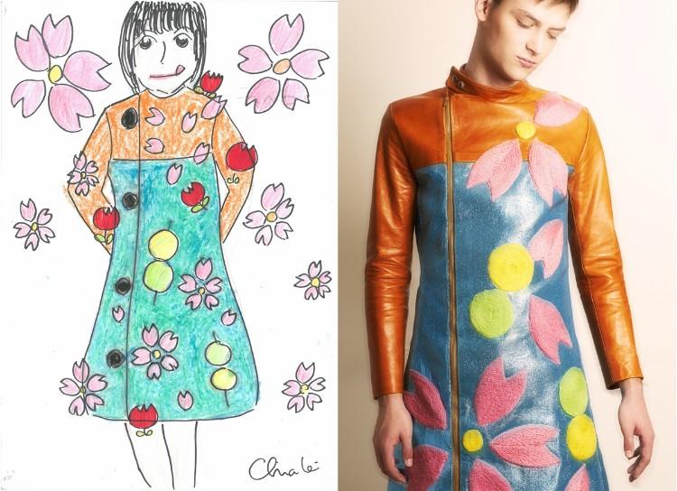 デザイン画からこんな服が生まれます