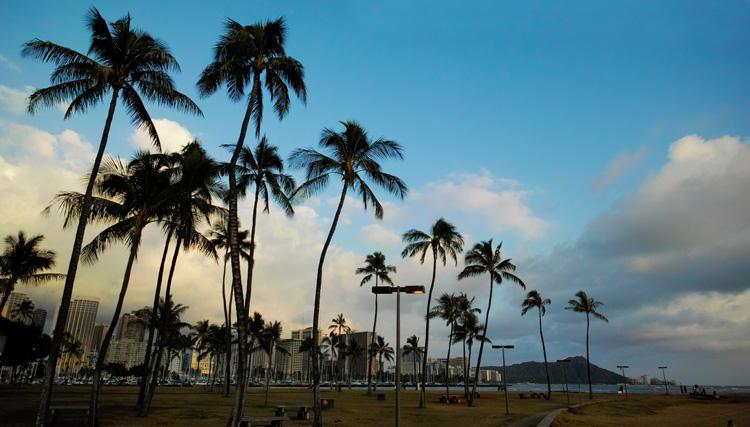 ハワイ・ワイキキのビーチ