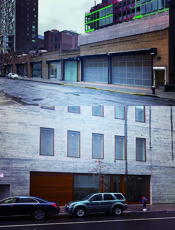 デイビッド・ズワーナーの入り口。上の写真は19ストリート(以下st)のギャラリー、下の写真は20stのギャラリー