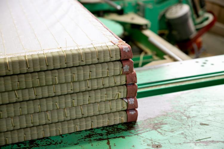 松葉畳店では、国産・熊本のい草を使って畳を作る