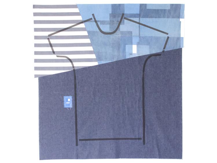 デニムの生地をあしらったバージョン。生地はデザイナーの飛田さんが見繕って、縫い合わせています