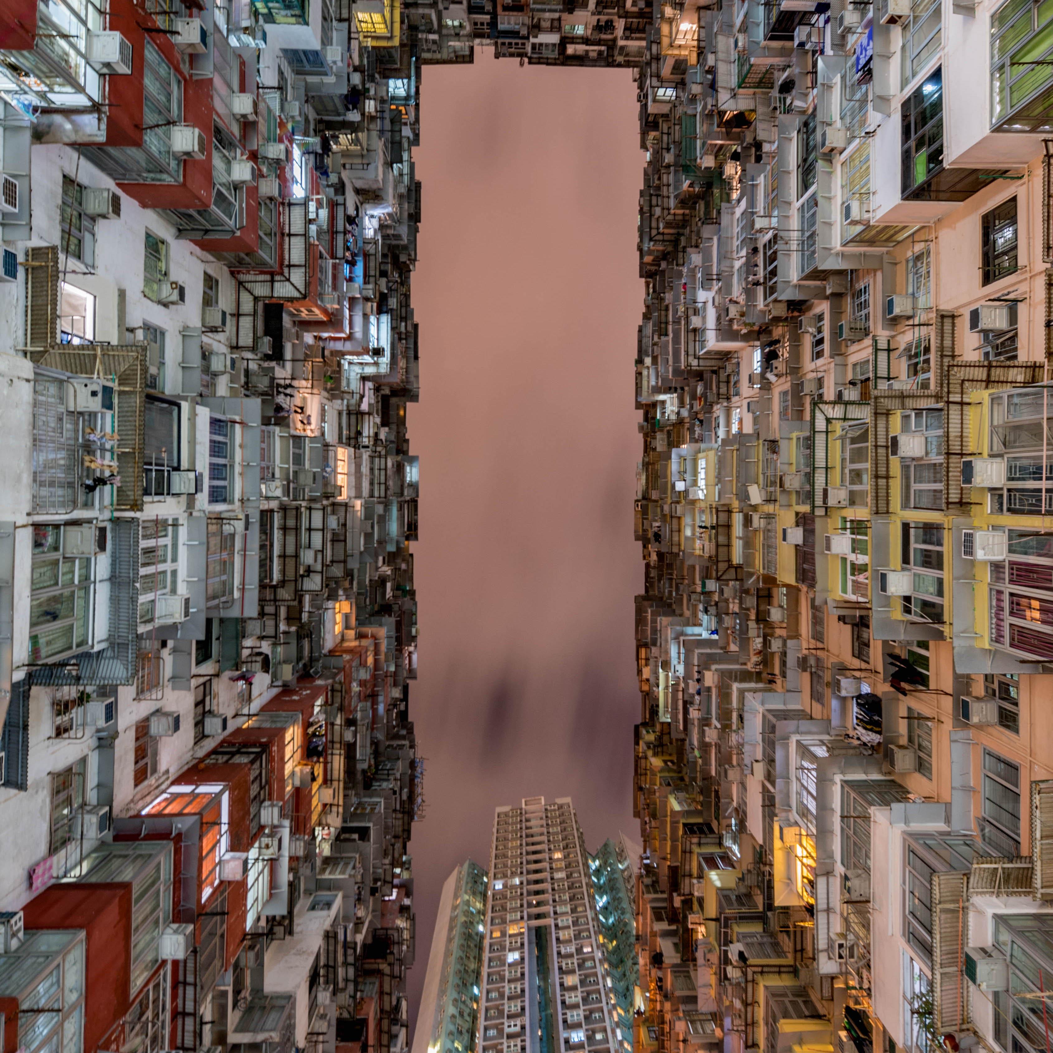 香港のモンスターマンション。数多くの人が暮らしている