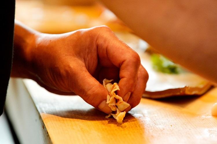 ホタテ貝のヒモ。コリコリ感が素晴らしい
