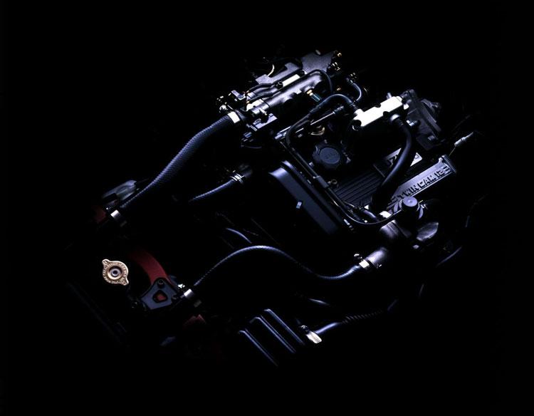「F6A」と呼ばれるアルトワークス用の3気筒DOHCターボエンジン