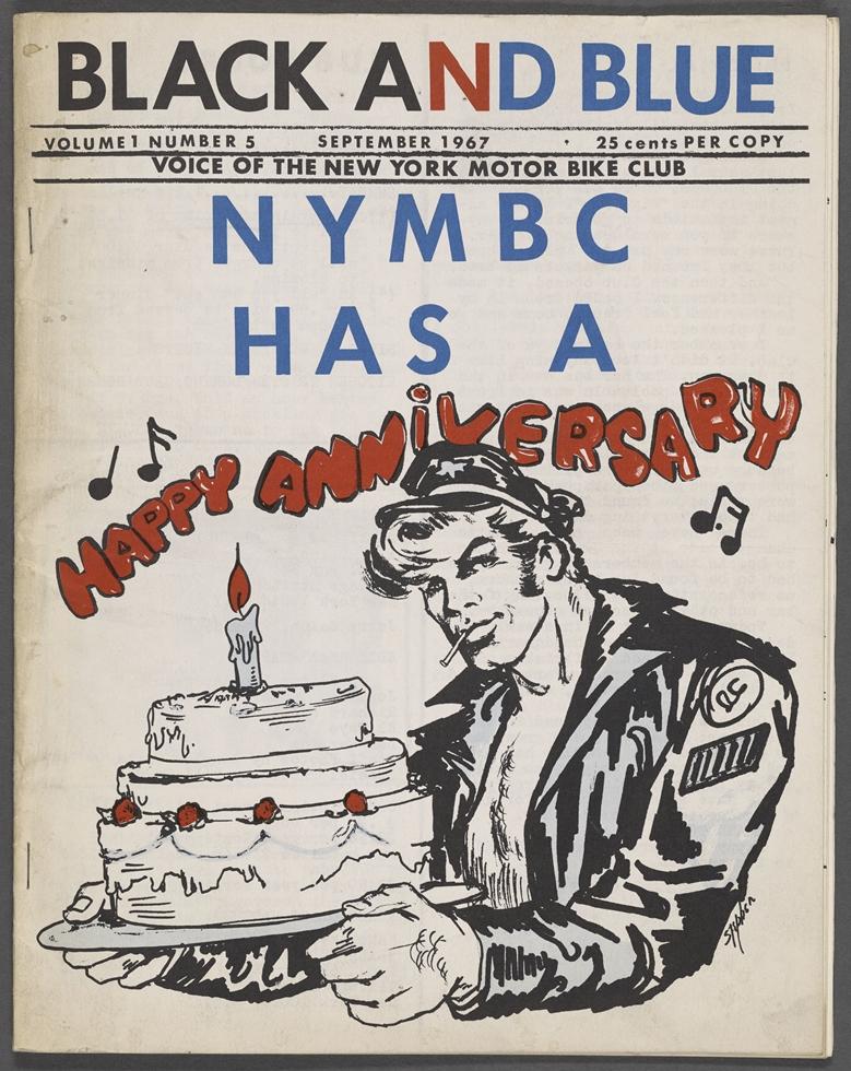 当時のジン。Black and Blue vol. 1, no. 5, New York Motor Bike Club, September 1967 / New York Public Library, Manuscripts and Archives Division