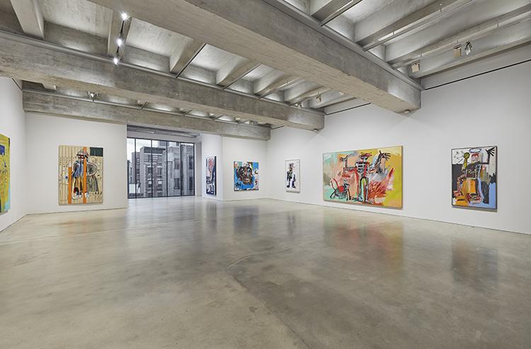 ザ・ブラント・ファウンデーションの展示会場の3F。前澤友作さんが123億円で落札したバスキアの絵が平然と置かれている / Copyright Estate of Jean-Michel Basquiat. Licensed by Artestar, New York. Courtesy The Brant Foundation.