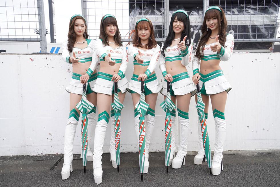 太田麻美さん、横田りかさん、宮本りおさん、一瀬優美さん、林紗久羅さん(D'station フレッシュエンジェルズ2019)
