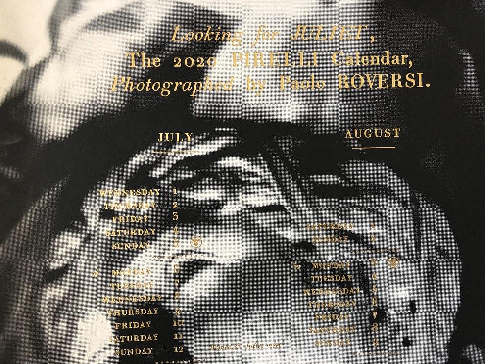 5 「Looking For Juliet」はいちおうカレンダーなので、こんなふうに日付が入っているが、まったく機能しないだろう(笑)=筆者撮影