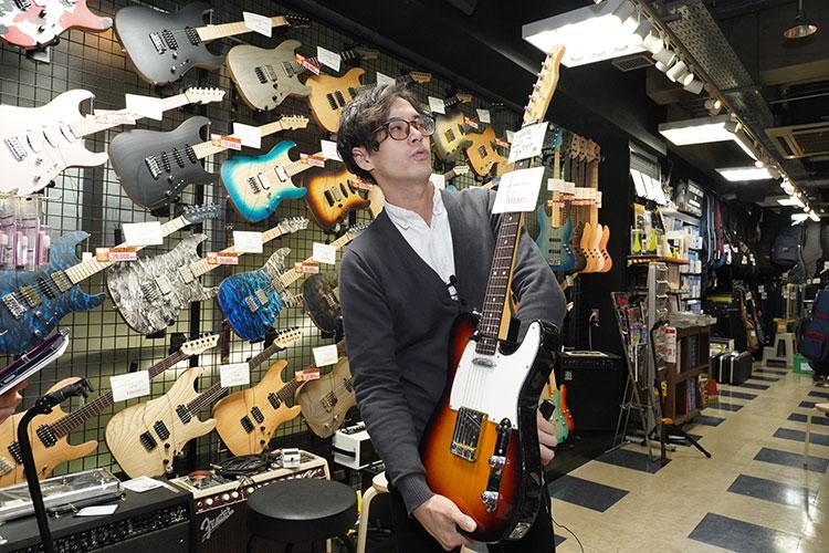 日本製FUJIGENのギター。テレキャスタータイプが5万円台