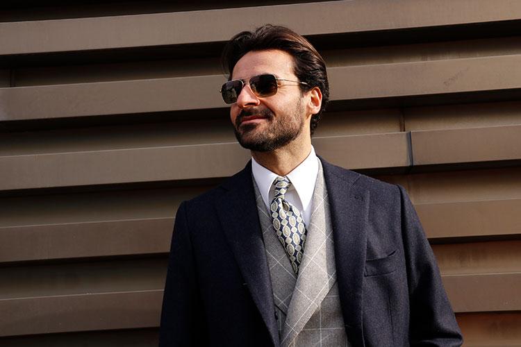 イタリア人ファッション・インフルエンサー、ジョルジョ・ジャンジューリオ氏は、「何が真に持続可能かをじっくり見極める必要がある」と話す