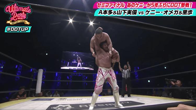 AbemaTVで生中継された「DDT LIVE!ビッグマッチ」両国国技館大会(2019年11月3日開催)でのワンシーン。(C)AbemaTV
