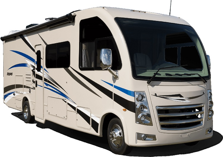 正規輸入モデルとしては唯一のクラスA、THORヴェガスの中でもダブルスライドアウトをもつモデル、ヴェガス27.7。(Photo: Thor Motor Coach)