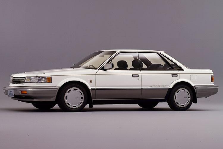 前輪駆動、V6ターボの下級セダン 日産ブルーバードマキシマ「PU11」