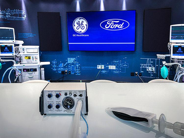 フォードでは電源のいらない人工呼吸器を製造(写真=Ford提供)