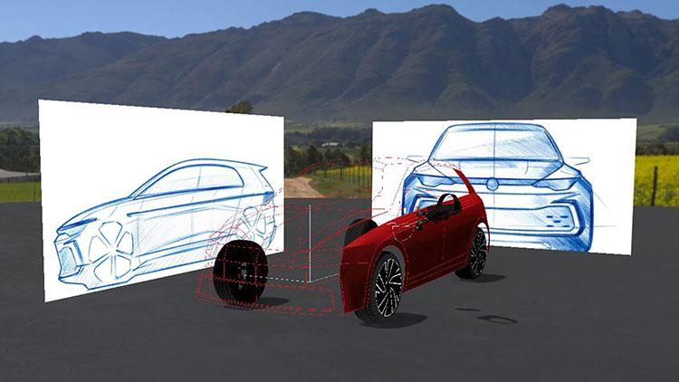 デザインツールで2Dから3Dのイメージを作る