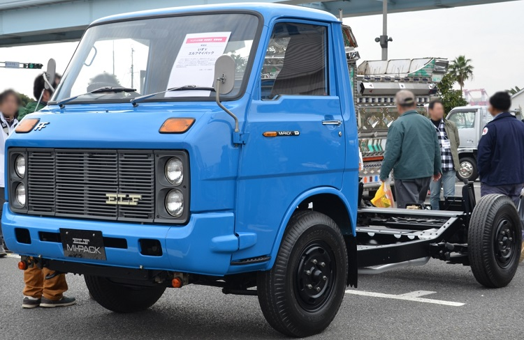 1970年代にごく短期間だけ販売されたいすゞのエルフ・マイパック。いまのところ日本で販売された唯一のFF小型トラック。今、これがあればベース車として最適だったと思われる