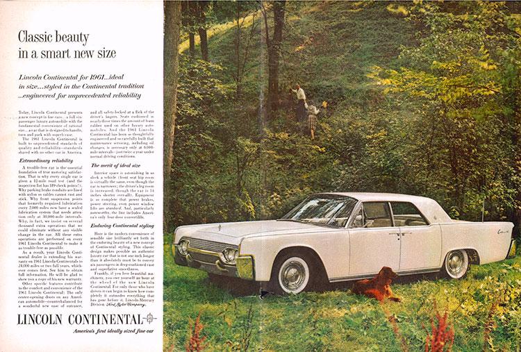 61年モデルの広告では6人乗りのこの車体を「合理的なサイズ」と謳(うた)っている