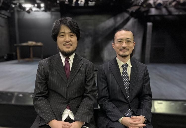 劇作家の古川健(左)と演出・劇団主宰の日澤雄介(撮影:石川智也)