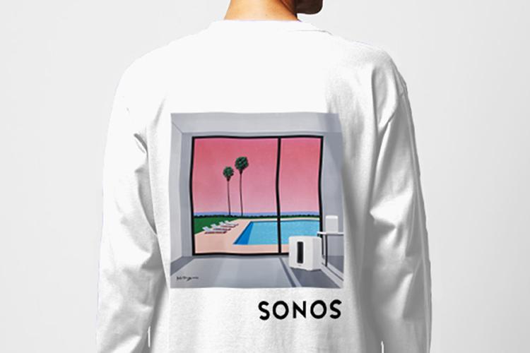 大瀧詠一さんのレコードジャケットを手がけたイラストレーター、永井博さんと、SonosのコラボTシャツをプレゼント!