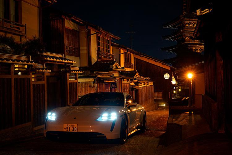 排気を出さないピュアEVは、京都にも向いているといえる