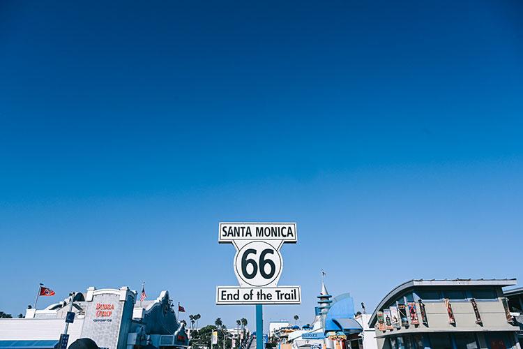 ルート66の終着点、サンタモニカ