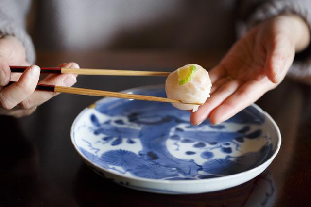 おひとつつまんで。和菓子のような「花梓侘」のつまみ寿し