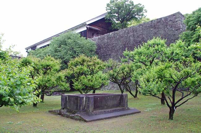 加藤清正が築いた熊本城の井戸。120か所以上設置されたという