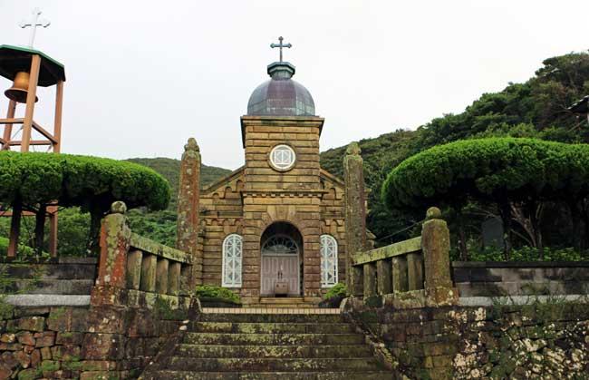 世界遺産に登録申請をすることになった中通島の顔、頭ケ島天主堂
