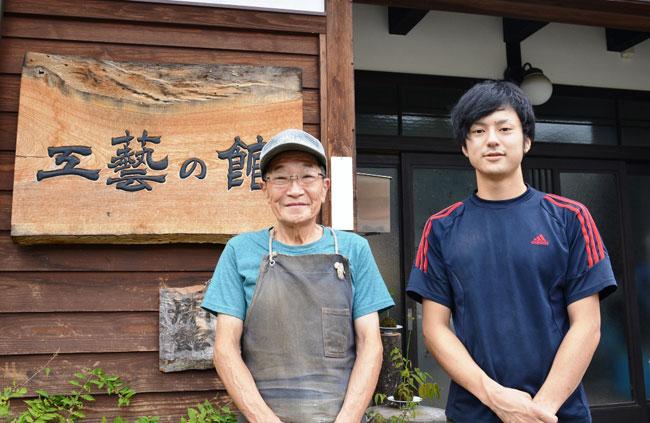 辻新太郎さんと弟子の北野宏和さん