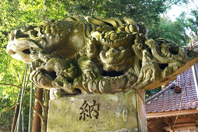 鹿嶋神社(白河市)の飛翔獅子。名工・小松寅吉の最高傑作といわれる