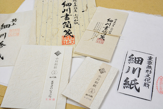細川紙の製品の数々