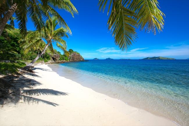 マナ島のノースビーチ。静けさに満ちています