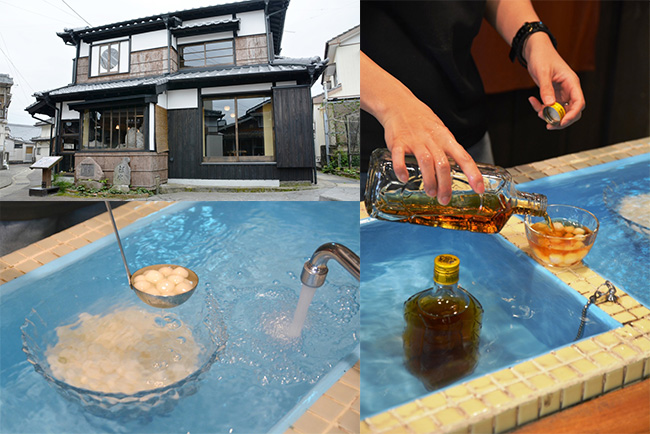 """シロップはウイスキーの角瓶に入れて冷やすのが""""銀水流"""""""