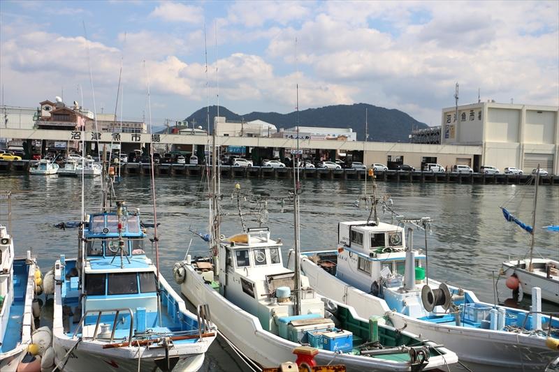 朝は魚市場や魚介の水揚げでにぎわう沼津港