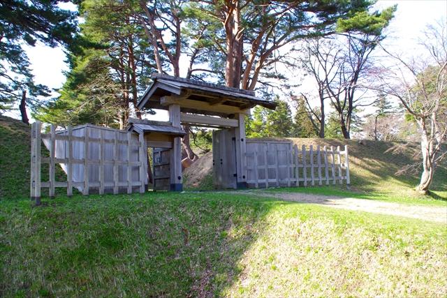 松前藩戸切地陣屋跡の広大な敷地には120人以上の藩士が生活していたといわれている