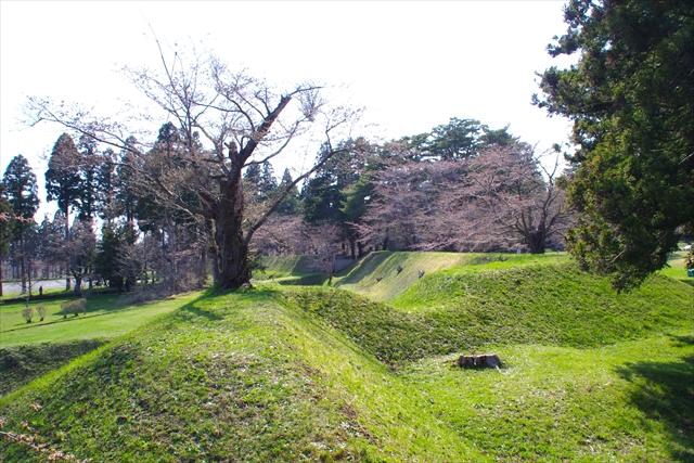日露戦争を記念して585本の桜が植えられ、5月上旬~中旬には800メートルの一本道がピンク色に染まる観光スポットとしても知られる