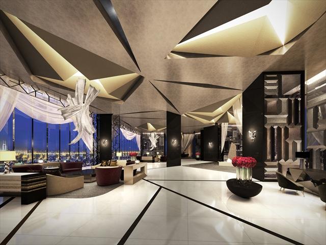 みなとみらい地区に開業予定の「ザ・カハラ・ホテル&リゾート 横浜」のスカイロビー