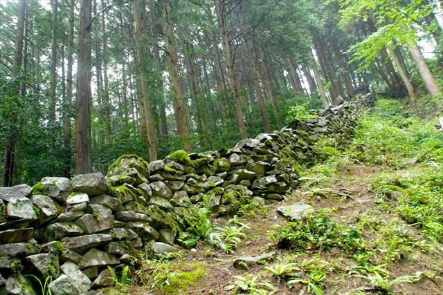 耶馬渓に築かれた長岩城。奇岩を利用した、全国有数の奇城として知られる