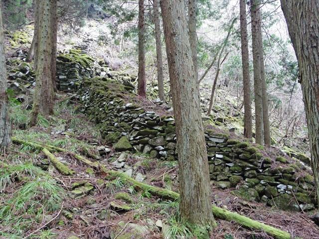 城内のいたるところに、長大な石塁が延々と積まれている