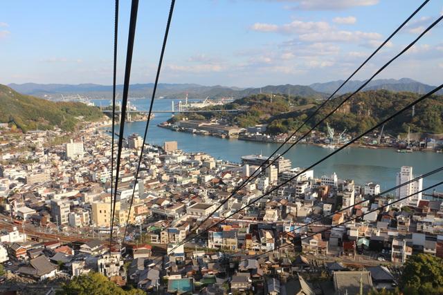 千光寺山ロープウェイからの尾道水道の眺め
