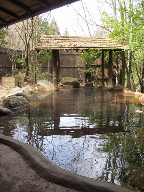 ほんのり紅茶色の温泉でぽかぽかと温まる