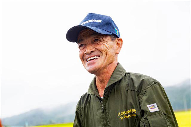 「できる米も年々、良くなっている」と手応えを語る斑目義雄さん