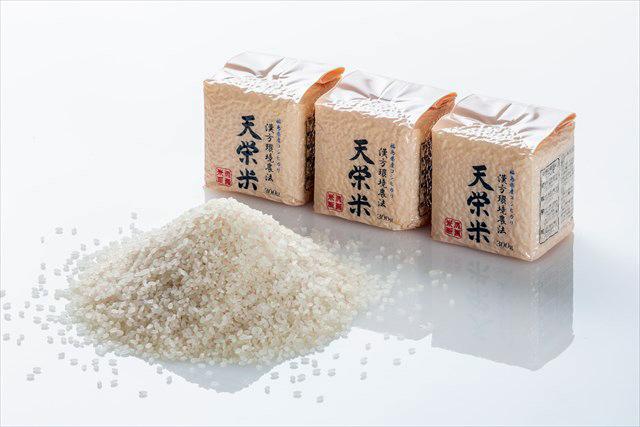 冷めてもおいしいのが天栄米の特長。写真は「漢方環境農法天栄米」