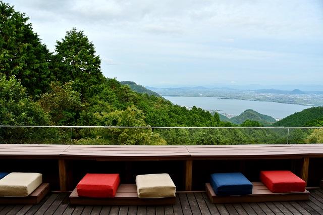 琵琶湖を見下ろすパノラマ