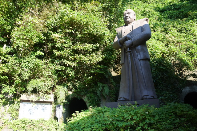 鹿児島市城山町の西郷隆盛洞窟にある、西郷隆盛の像