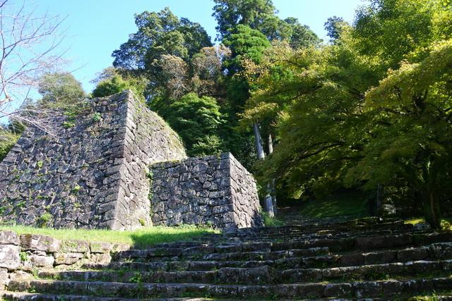 人吉城の御下門(おしたもん)跡。本丸や二の丸に登る際の登城口