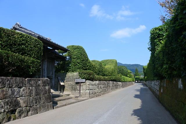 薩摩藩の外城のひとつ、知覧麓(ふもと)の武家屋敷群。大河ドラマ「西郷どん」のロケ地にもなった